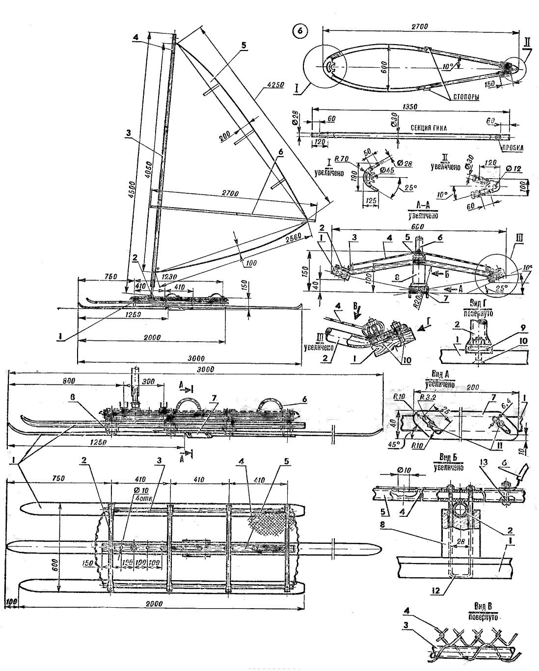 схема изготовления санок